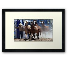 Charging  In... Framed Print