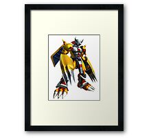 War Greymon Framed Print