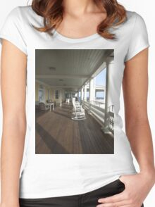 ocean house porch 2011 Women's Fitted Scoop T-Shirt