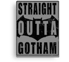 Straight Outta Gotham (Black) Canvas Print