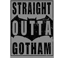 Straight Outta Gotham (Black) Photographic Print