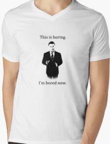 Jack Donaghy is bored now. Mens V-Neck T-Shirt