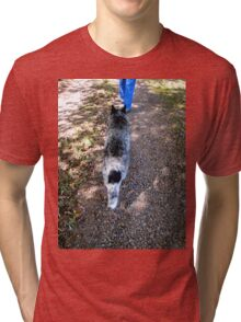 Blue in Dappled Shadow Tri-blend T-Shirt