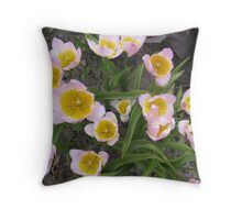 Welcoming Tulips Throw Pillow