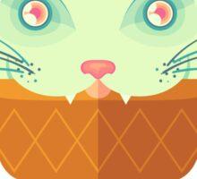 Strawberry-Mint Cat Sticker