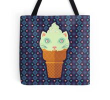 Strawberry-Mint Cat Tote Bag