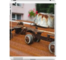 Rusty Old Roller Skates and Tin Bath iPad Case/Skin