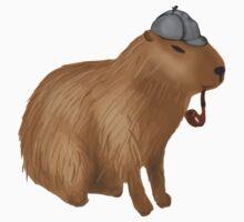 Sherlock capybara One Piece - Short Sleeve