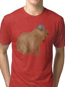 Sherlock capybara Tri-blend T-Shirt