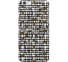 Abstract black gold faux glitter shapes pattern  iPhone Case/Skin