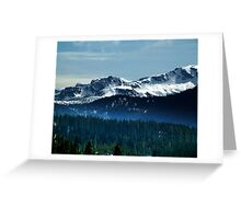 Strathcona Park Mountains Greeting Card