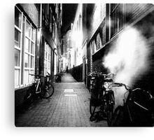 STEAMY DARK ALLEY Canvas Print