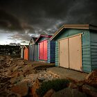Dark Beachboxes by Sean Farrow