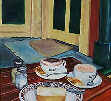 Cappucino and flat white at Ma Foosies by Michael Watkins