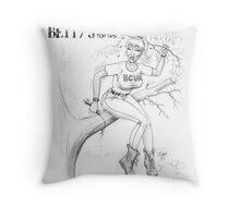 BushcraftBetty02 Throw Pillow