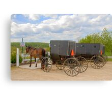 Horse & Buggy Parking Only  Canvas Print
