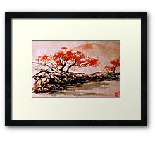 Autumn Water Framed Print
