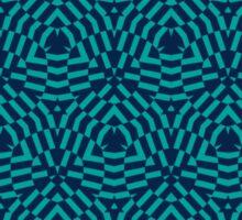 Op Art Blue Sticker