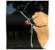 Stick Insect - Blue Poster