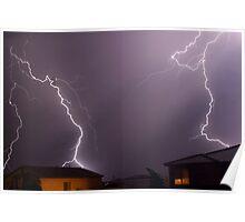 Lightning neighborhood - Queen Creek, AZ Poster