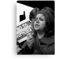 Speaker at Gay Rally  Canvas Print