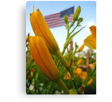 Blooming Patriot Canvas Print