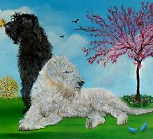 Labradoodle Spring by Yvonne Carter