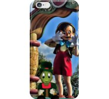 PINOCCHIO AND JIMMY CRICKET (VERSION THREE)(A FAVORITE MEMORY OF MINE) PICTURES-CARDS-PILLOWS-TOTE BAGS-ECT.. iPhone Case/Skin