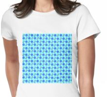 Bright Blue Flowers & Spring Butterflies Womens Fitted T-Shirt