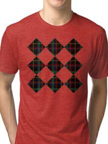 Black Plaid Tri-blend T-Shirt