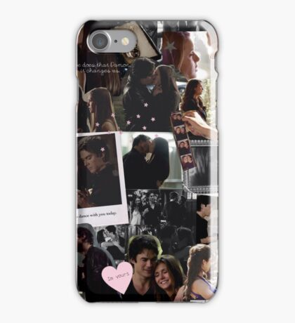 damon & elena. iPhone Case/Skin