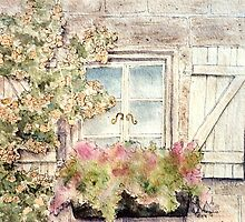 Garden Window with Climbing Roses by ArtByDrax