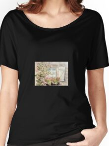 Garden Window with Climbing Roses Women's Relaxed Fit T-Shirt