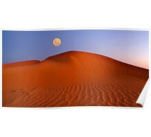 Moon at Sunrise - Perry Dunes Poster