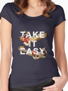 Take It Easy Women's Fitted Scoop T-Shirt