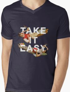 Take It Easy Mens V-Neck T-Shirt