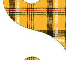 Yellow Plaid Sticker