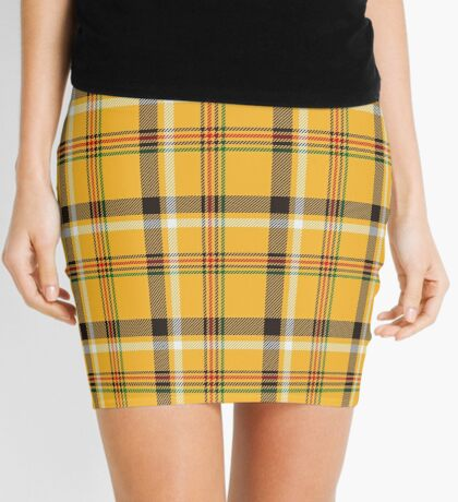 Yellow Plaid Mini Skirt