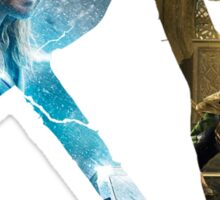 Thor and Loki Sticker