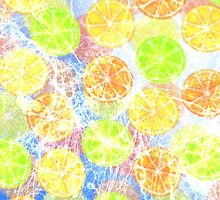 Abstract Frozen Citrus Fruit by Blkstrawberry