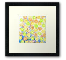 Abstract Frozen Citrus Fruit Framed Print