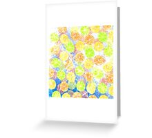 Abstract Frozen Citrus Fruit Greeting Card