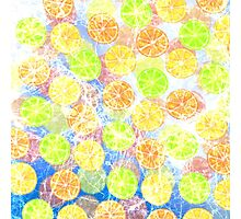 Abstract Frozen Citrus Fruit Photographic Print