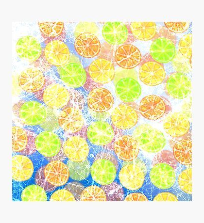 Abstract Frozen Citrus Fruit Photographic Print