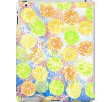 Abstract Frozen Citrus Fruit iPad Case/Skin