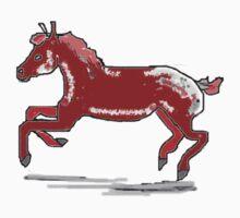 Red Dapple Pony T Shirt by Shoshonan