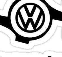 VW My World is Flat Sticker