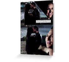 Delena Rain Kiss Greeting Card
