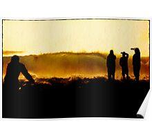backlit sunrise Poster