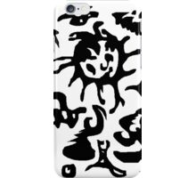 confused zebra iPhone Case/Skin